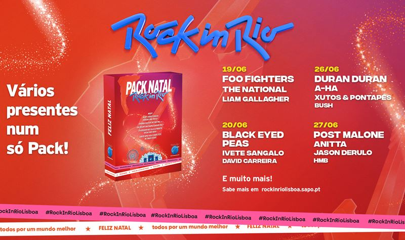 Rock in Rio 2021: Pack Natal à venda