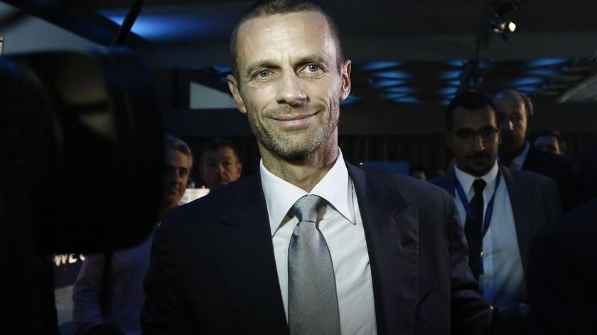 Presidente da UEFA, Aleksander Ceferin. Foto: Yannis Kolesidis/ EPA