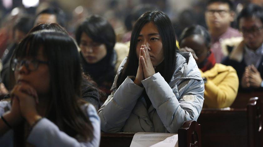 Católicos na China continuam a ser alvo de perseguição. Foto: EPA