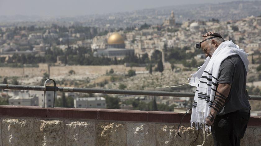 Papa quer estatuto especial para Jerusalém. Foto: Abir Sultan/EPA