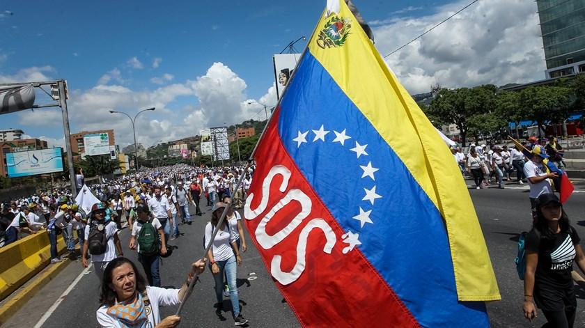 Manifestação contra o Governo em Caracas Venezuela. Foto: Mauricio Duenas/EPA