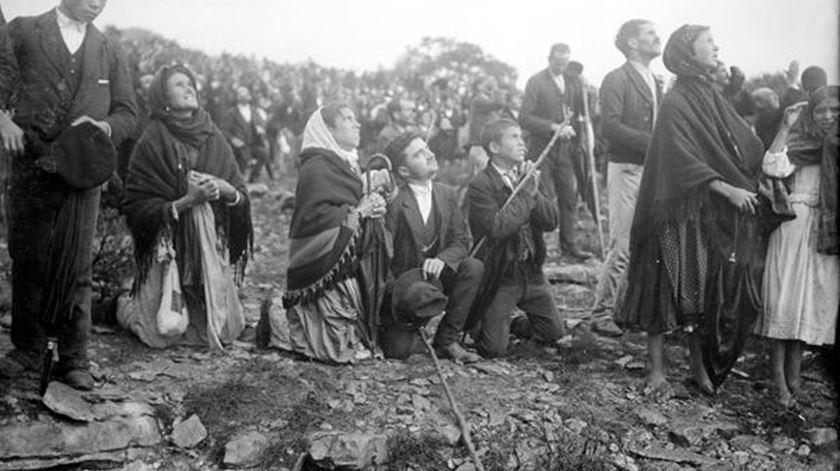 O milagre do Sol teve lugar no dia 13 de Outubro de 1917. Foto: Santuário de Fátima