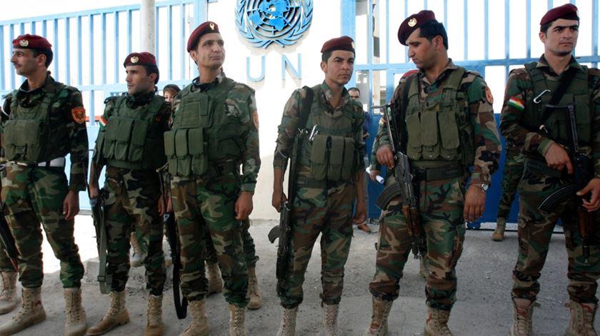 Peshmerga curdos preparados para lutar pela independêndia. Foto: Mohammed Jalil/EPA