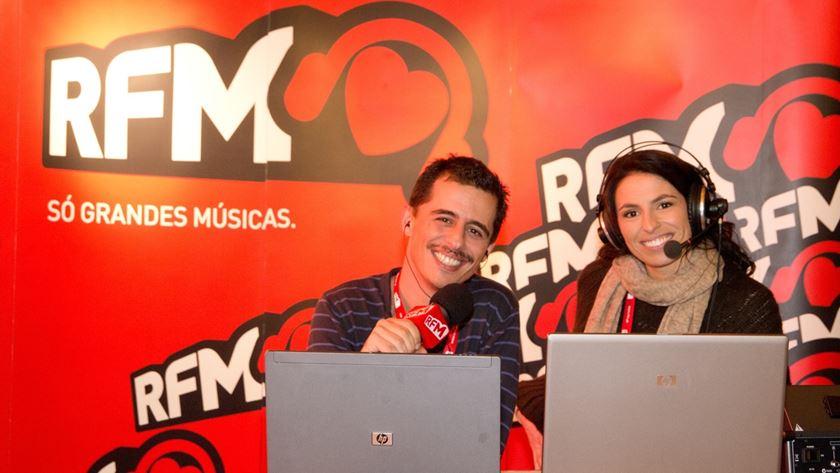 Andre Henriques e Joana Cruz em emissao