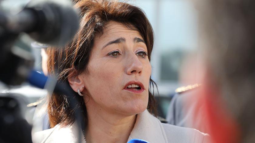 """""""Portugal continua a ser um país seguro"""", diz a ministra. Foto: Manuel de Almeida/Lusa"""