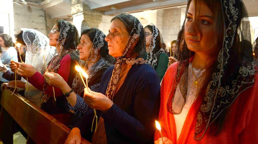 Cristãos na Síria já são apenas 2% da população. Foto: Omar Alhayali/EPA