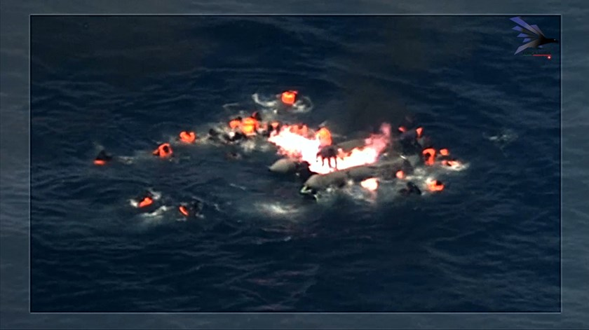 Força Aérea Portuguesa salva 34 migrantes vítimas de explosão no Mediterrâneo