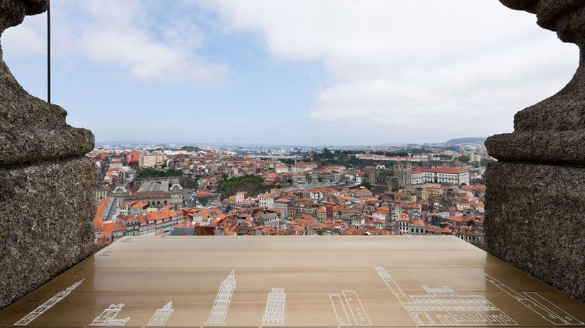 A vista do topo da Torre. Foto: Irmandade dos Clérigos