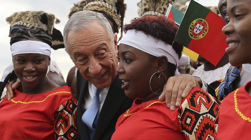 Marcelo durante a visita a Moçambique. Foto: João Relvas/Lusa