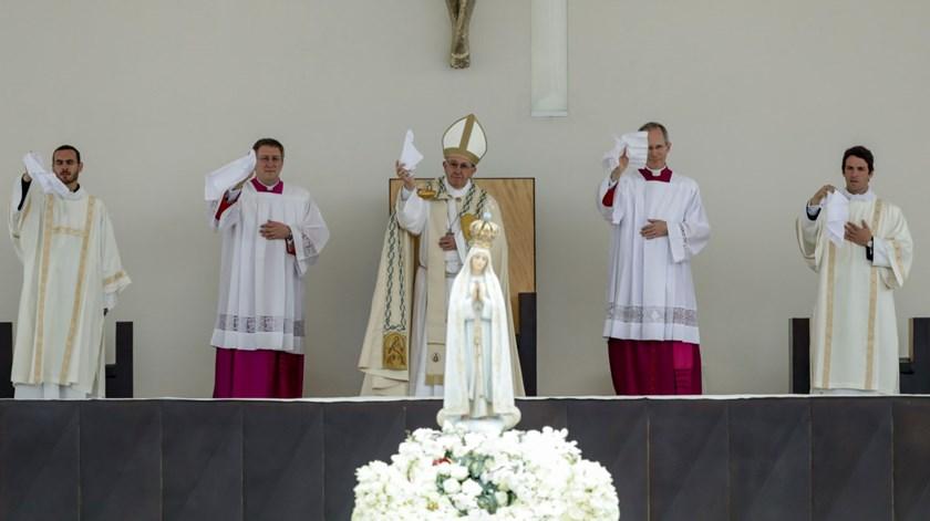 Papa despede-se de Nossa Senhora de Fátima, um fenómeno do Século XX português. Foto: Lusa