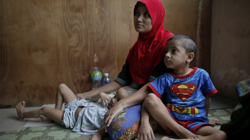 Refugiados rohingya na Malásia. Foto: Fazry Ismail/EPA
