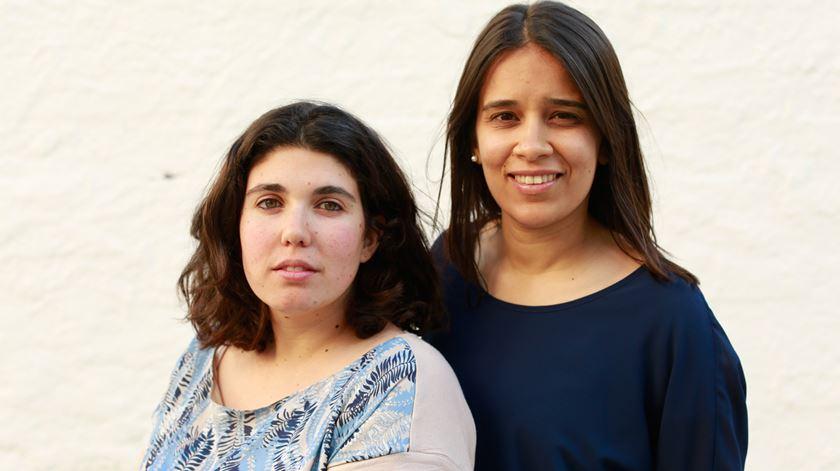 Sara Capelo, à esquerda, e Ana Catarina André. Foto: Alexandre Azevedo