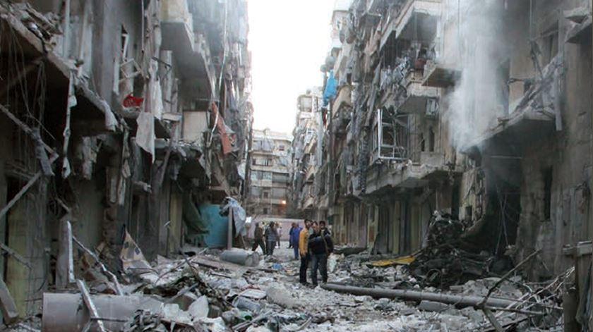 Alepo, na Síria, tem sido particularmente fustigada pelo conflito. Foto: Amnistia Internacional