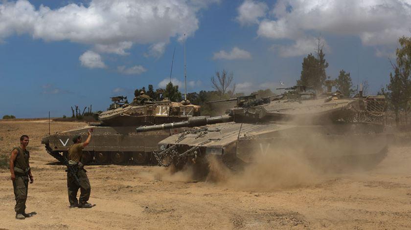 Soldados israelitas entraram em Gaza esta quinta-feira. Foto: DR