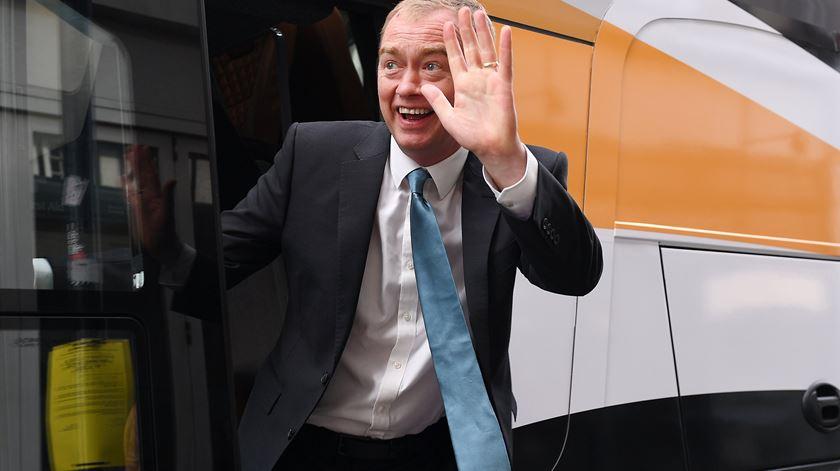 Tim Farron despediu-se da vida política em 2017. Foto: Andy Rain/EPA