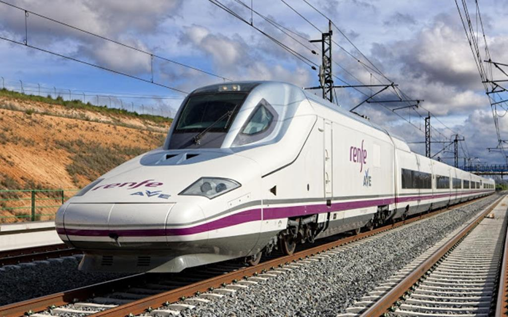 Comboio de alta velocidade em Espanha. Foto: DR