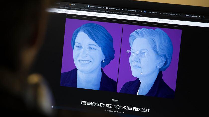 """Presidenciais nos EUA. O """"The New York Times"""" já disse quem apoia para derrotar Trump: duas mulheres"""