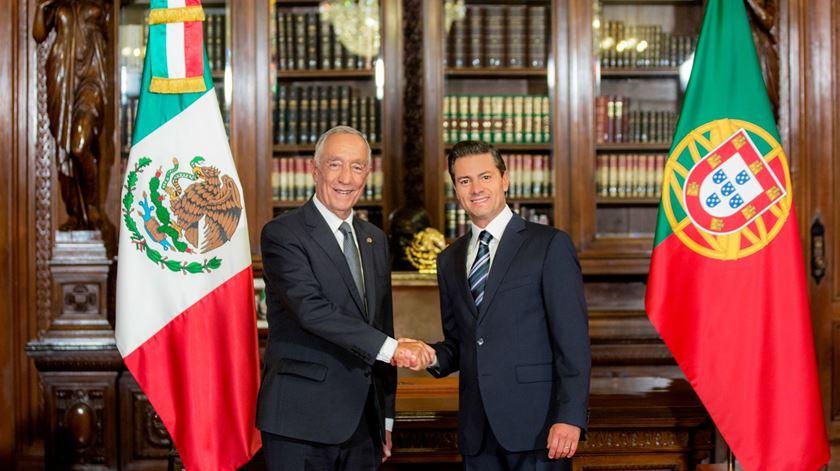 Marcelo Rebelo de Sousa com o Presidente mexicano. Pena Nieto. Foto: Presidência do México