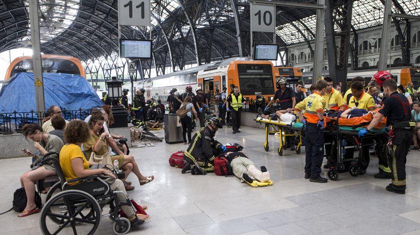 Acidente com comboio faz 48 feridos em Barcelona