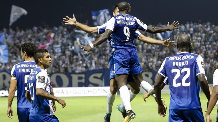 Aboubakar marcou em Tondela. Foto: EPA/PAULO NOVAIS