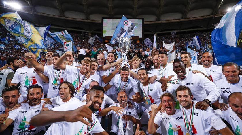 Lazio conquistou Supertaça, Foto: Angelo Carconi/EPA