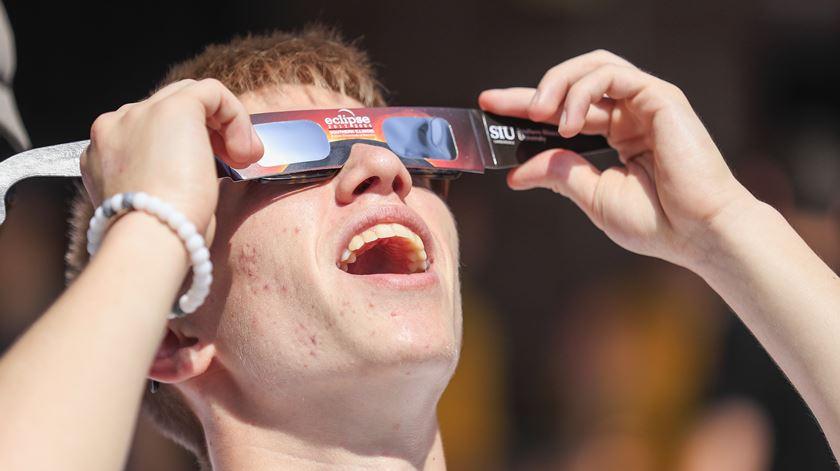 As imagens do eclipse do Sol nos Estados Unidos
