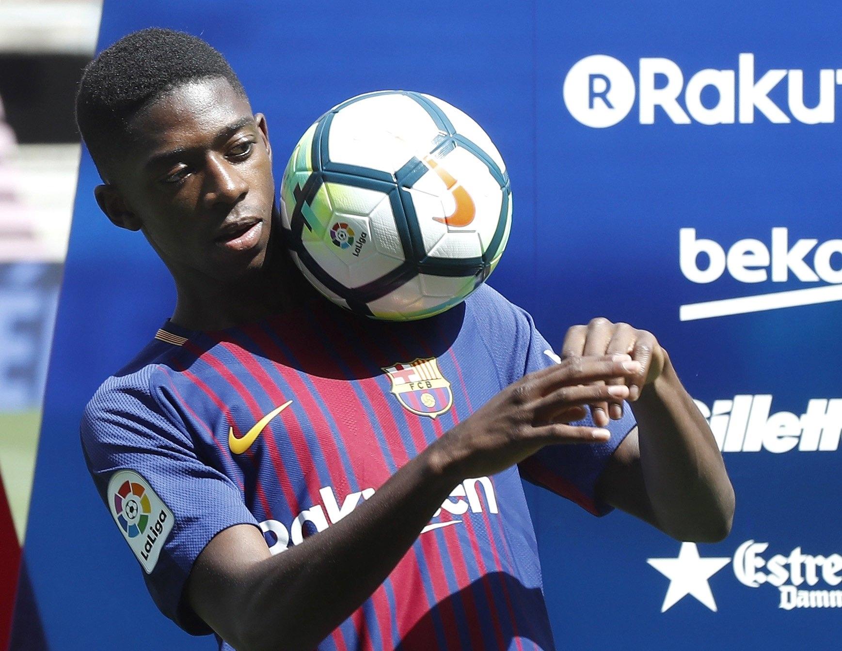 Técnico do Barcelona culpa inexperiência de Dembélé por lesão