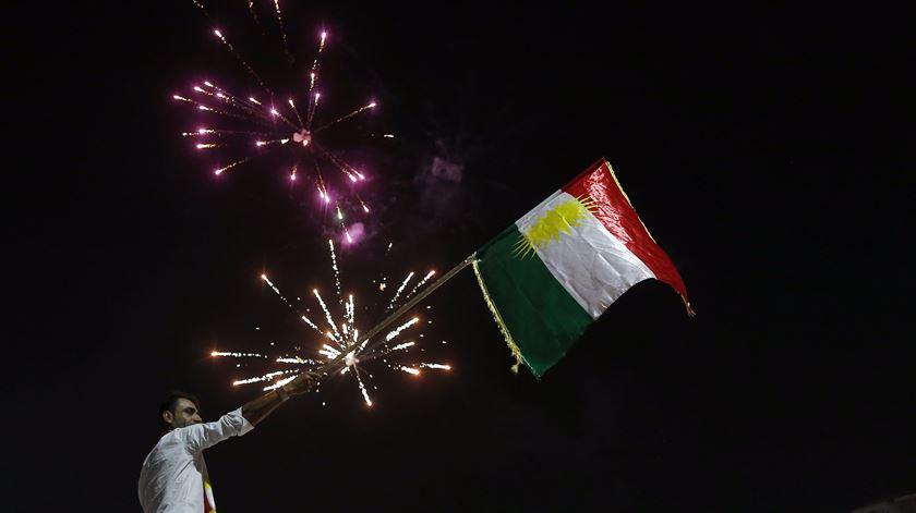 Curdos esperam poder declarar independência, mas vizinhos não querem um novo país na região. Foto: Mohamed Messara/EPA