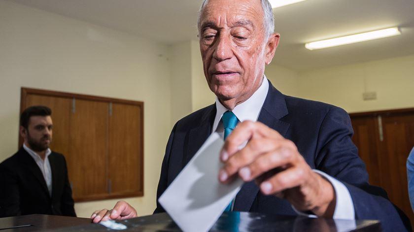 """Marcelo não consegue """"compreender a abstenção"""". Foto: Octávio Passos/Lusa"""
