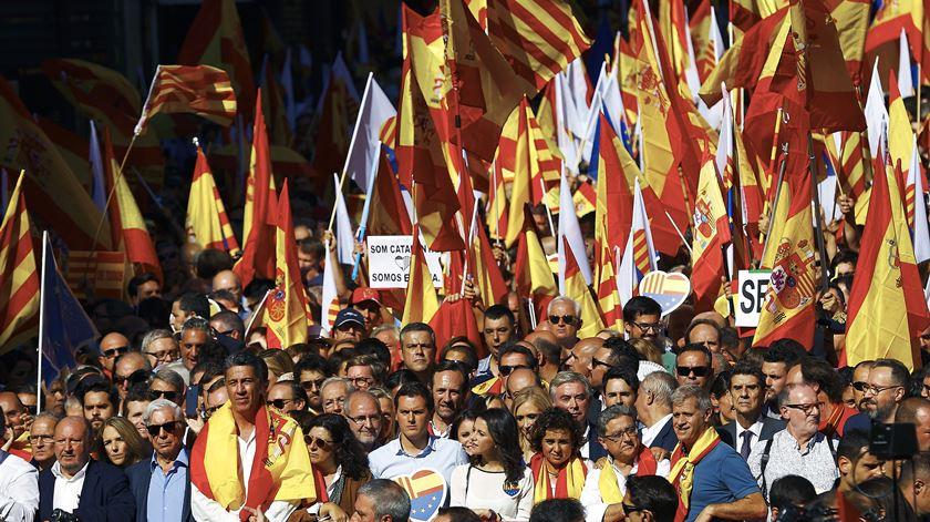 """Barcelona. Defensores do """"não"""" saem à rua"""