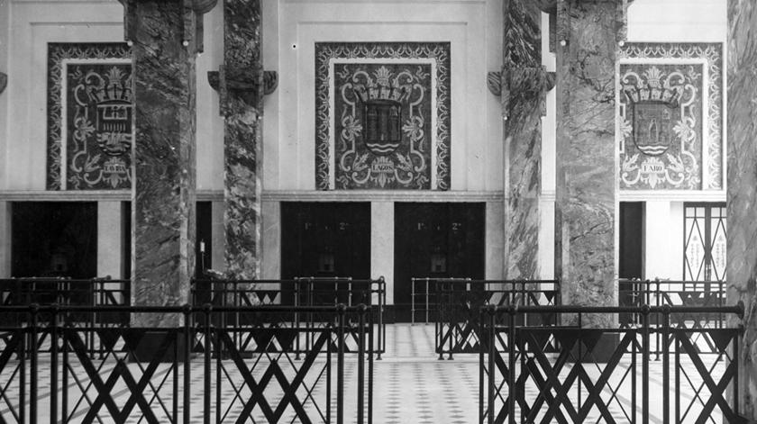 Vista interior da estação sul e sueste, 1932.Foto: Associação  de Turismo de Lisboa