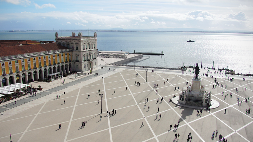Projecto de reabilitação da Estação Sul e Sueste - Programa Preliminar, vista a partir do Arco da Rua Augusta. Foto: Associação  de Turismo de Lisboa