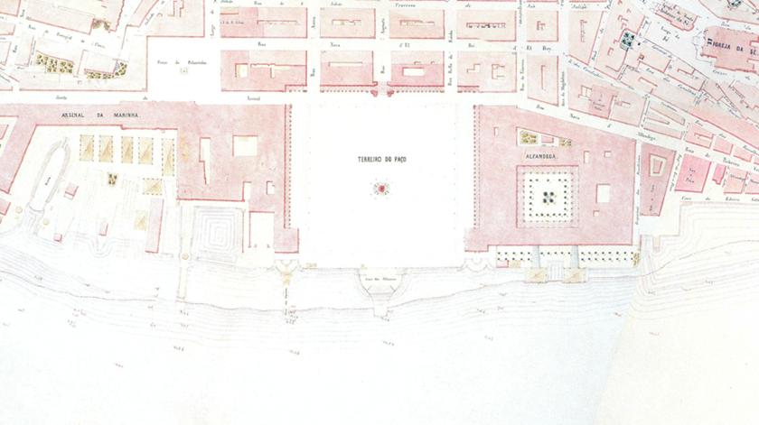Carta topográfica de Lisboa 1856, da autoria de Filipe Folque. Foto: Associação  de Turismo de Lisboa