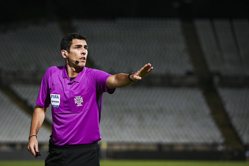 Fábio Veríssimo, árbitro. Foto: José Sena Goulão/Lusa