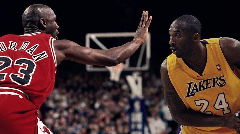 """Michael Jordan """"chocado"""" com morte de Kobe Bryant. """"Era como um irmão mais novo"""""""