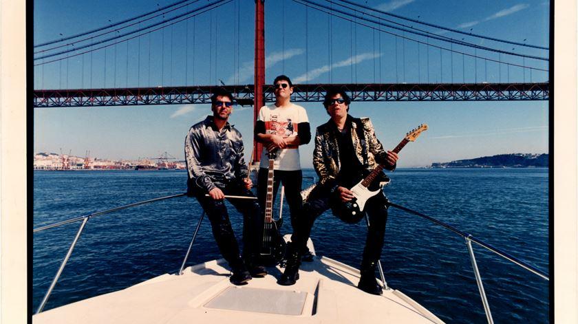 Uma foto de promoção dos Xutos, 1997