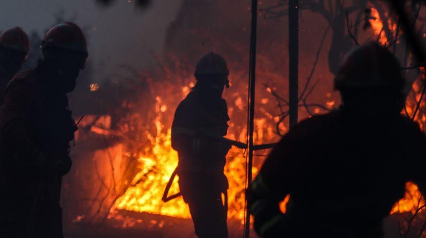 Fogo em Rio Moinhos, Abrantes. Foto: Paulo Cunha/LUSA