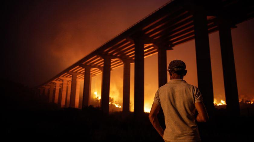 """Incêndio de Abrantes está """"estabilizado"""". Foto: Paulo Cunha/Lusa"""