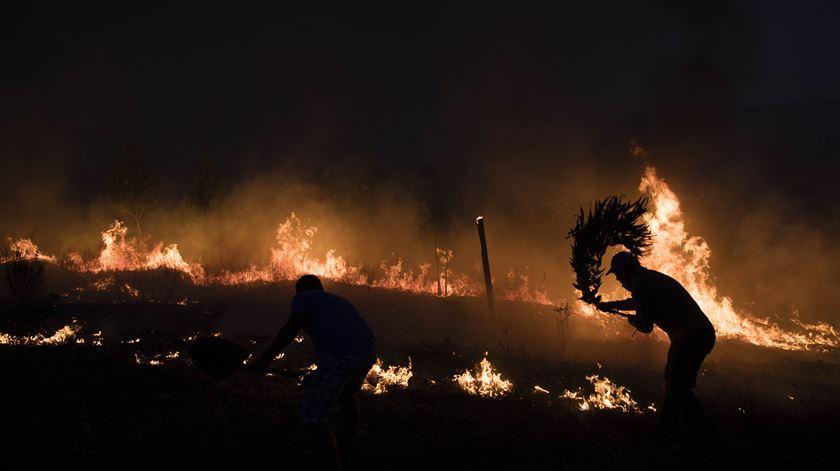 Incêndio em Ortiga, Mação, em 2017. Foto: Paulo Cunha/Lusa