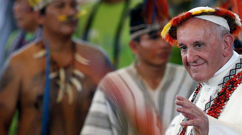 O Papa Francisco quer refletir sobre a Igreja na Amazónia. Foto: Henry Romero/Reuters