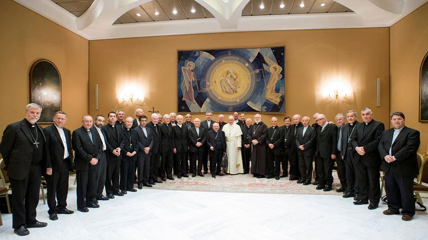 Bispos chilenos elogiados pelo Papa. Foto: Reuters