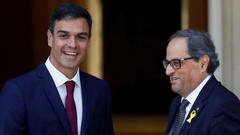 Torra não abdica da autodeterminação, Sánchez discorda mas abre espaço às negociações