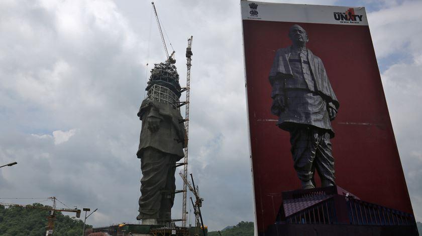 Índia constrói a estátua mais alta do mundo