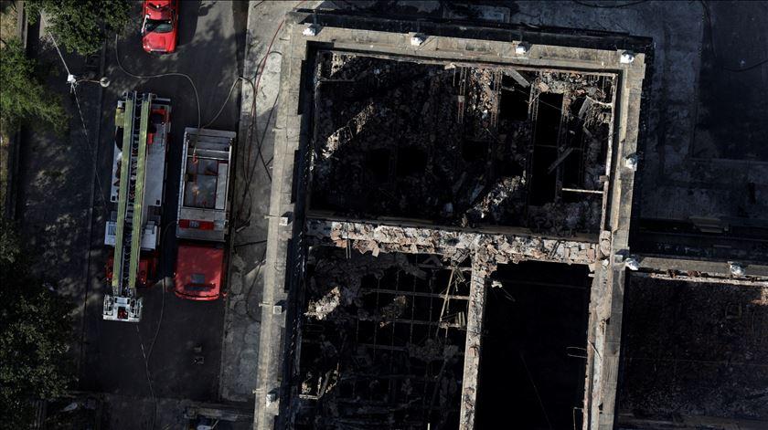 Imagens mostram a destruição no Museu Nacional no Rio de Janeiro