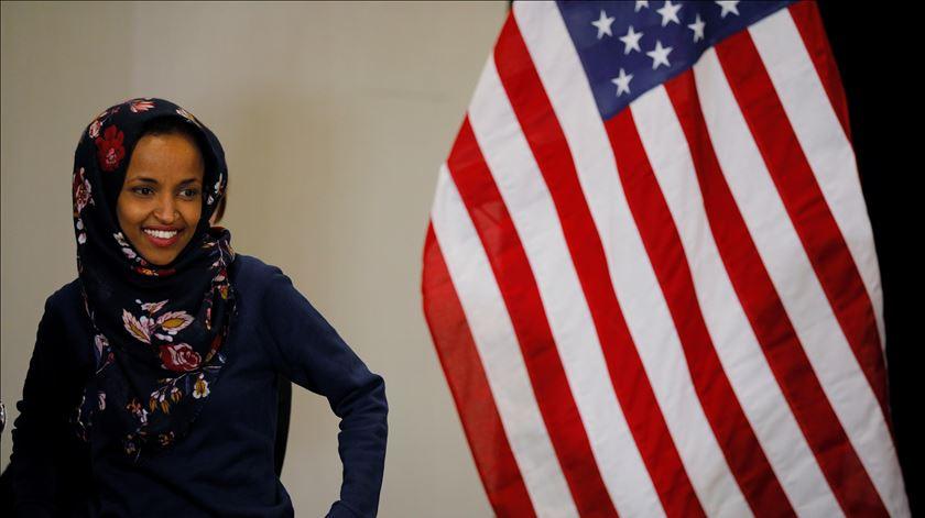 Ilhan Omar deverá ser a primeira refugiada a ser eleita para o Congresso norte-americano. Foto: Brian Snyder/Reuters