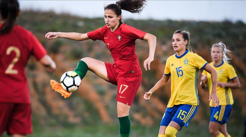 Vanessa Marques ao serviço da seleção. Foto: Ludvig Thunman/Reuters