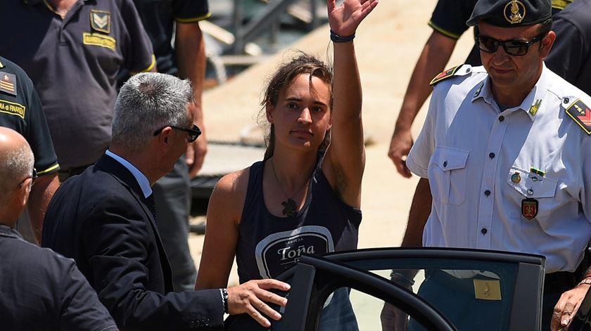 Carola Rackete, capitã alema do navio Sea-Watch 3 Foto: Guglielmo Mangiapane