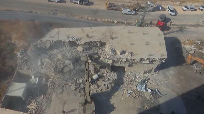 Casas palestinianas demolidas por Israel