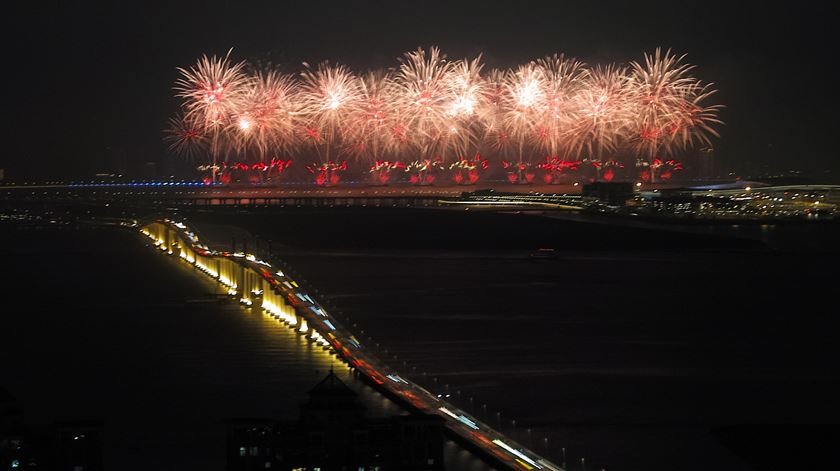 Comemorações do 70.º aniversário da República Popular da China em Macau. Foto: Reuters
