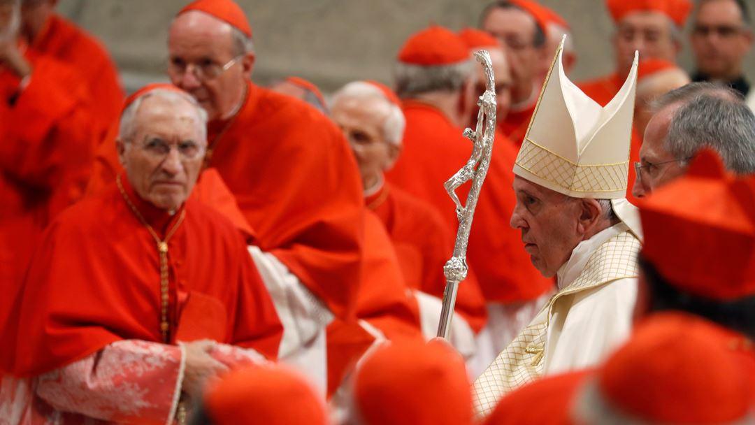 O arcebispo madeirense recebeu do Papa, tal como os restantes 12 bispos elevados, o barrete vermelho, o anel cardinalício e a bula de nomeação.
